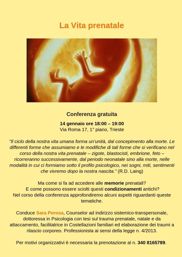 conferenza prenatale